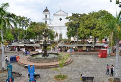 Plaza Mayor in Santa Fe de Antioquia, Colombia
