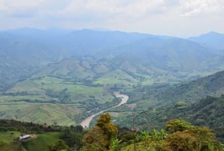 View from Cristo Rey de Belalcázar in Colombia
