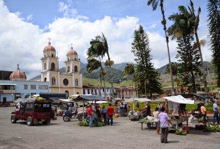Plaza in Pueblo Rico, Risaralda, Colombia