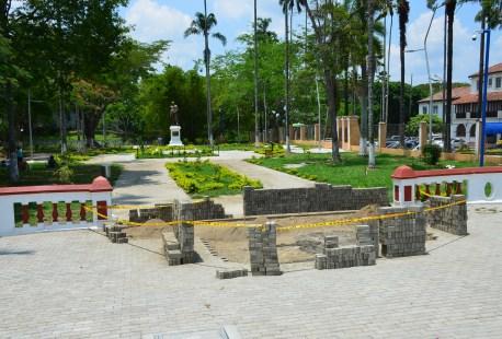 Parque de Bolívar in Buga, Valle del Cauca, Colombia