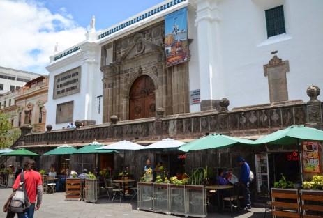 Cafetería Fabiolita on Plaza Grande in Quito, Ecuador