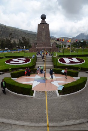 Equator monument at Mitad del Mundo in Ecuador
