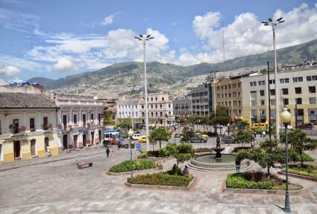 Plaza de San Blas in Quito, Ecuador