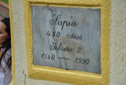 Simón Bolívar monument in Supía, Caldas, Colombia