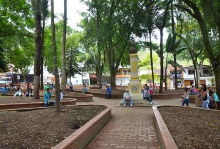 Plaza in Supía, Caldas, Colombia