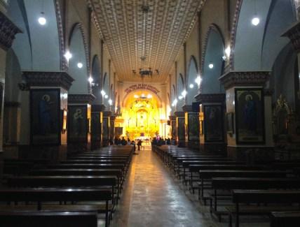 Iglesia de San Luis on Plaza Bolívar in Otavalo, Ecuador