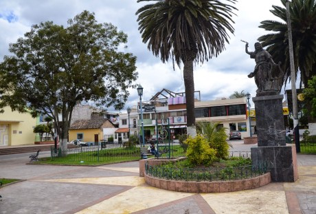 Plaza de San Francisco in Cotacachi, Ecuador