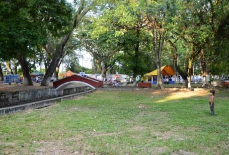 Parque La Isleta in Cartago, Valle del Cauca, Colombia
