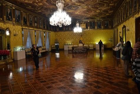 Salon Amarillo at Palacio de Carondelet on Plaza Grande in Quito, Ecuador