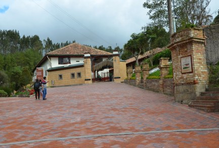 Outside the Mina de Sal in Nemocón, Cundinamarca, Colombia