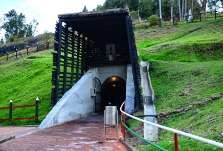 Entrance to the Mina de Sal in Nemocón, Cundinamarca, Colombia