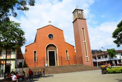 Church in Montenegro, Quindío, Colombia