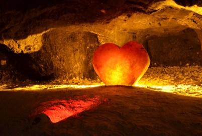 Salt heart in the Mina de Sal in Nemocón, Cundinamarca, Colombia