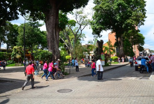 Plaza in Montenegro, Quindío, Colombia