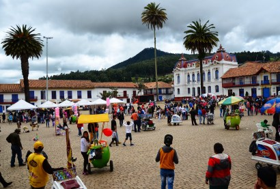 Plaza in Zipaquirá, Cundinamarca, Colombia