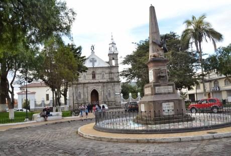 Parque Boyacá in Ibarra, Ecuador