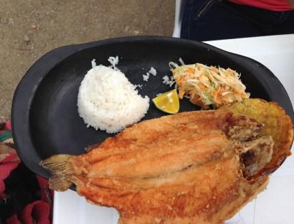 Lunch at La Choza in Salamina, Caldas, Colombia