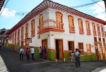 A building in Salamina in Salamina, Caldas, Colombia