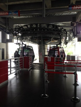 Cable car at the bus terminal in Manizales, Caldas, Colombia