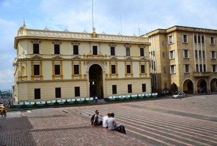 Palacio de Gobierno at Plaza de Bolívar in Manizales, Caldas, Colombia