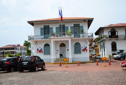 French Embassy at Plaza de Francia in Casco Viejo, Panama City