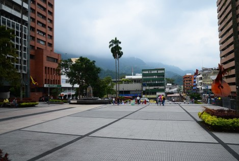 Parque Murillo Toro in Ibagué, Tolima, Colombia