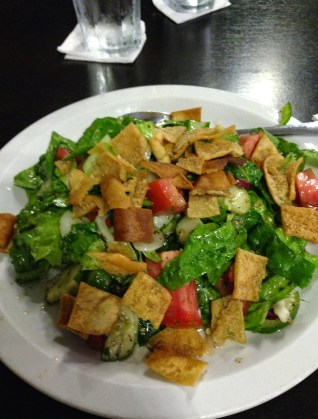 Fattoush salad at Grand Café in Colón, Panama