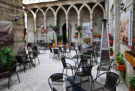 Tazzioli Café in Catedral de Manizales at Plaza de Bolívar in Manizales, Caldas, Colombia