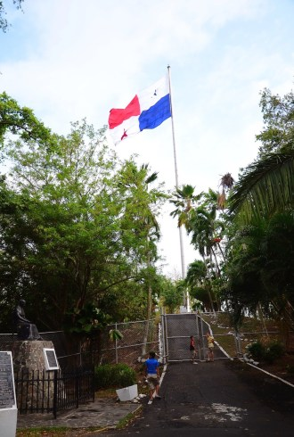 Panamanian flag on Cerro Ancón in Panama City