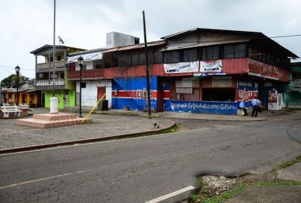 Run down buildings in Portobelo, Panama