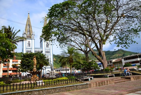 Plaza in Chinchiná, Caldas, Colombia