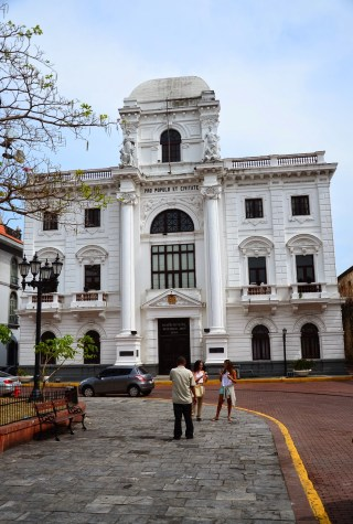 Palacio Municipal on Plaza Mayor in Casco Viejo, Panama City