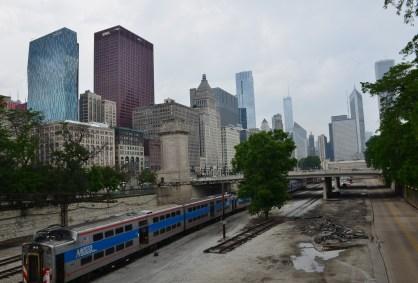 Railroad Tracks in Grant Park Chicago