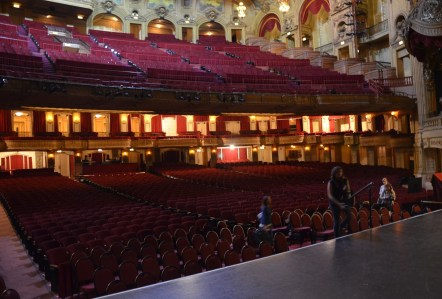 View from the stage at the Chicago Theatre on State Street