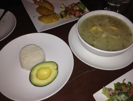 Ajiaco at Las Tablas Restaurant in Chicago