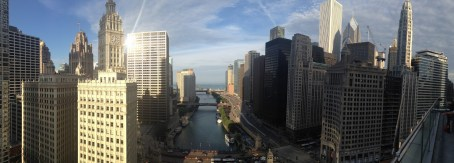 The view from Sixteen at the Trump Tower in Chicago