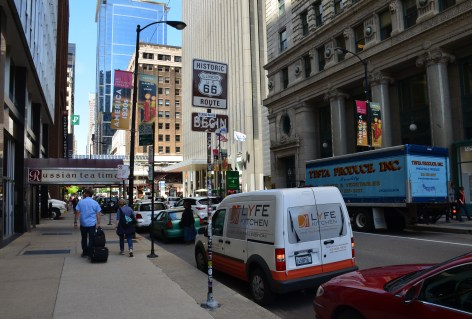 Route 66 starting point in Chicago, Illinois