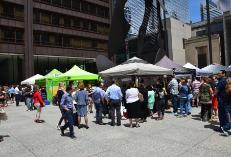Farmer's Market at Daley Plaza in Chicago, Illinois