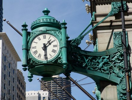 Marshall Field and Company Clock in Chicago