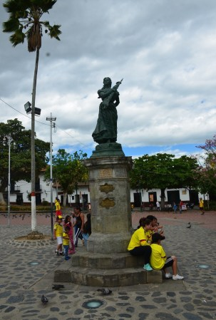 Policarpa Salavarrieta Monument in Guaduas, Cundinamarca, Colombia
