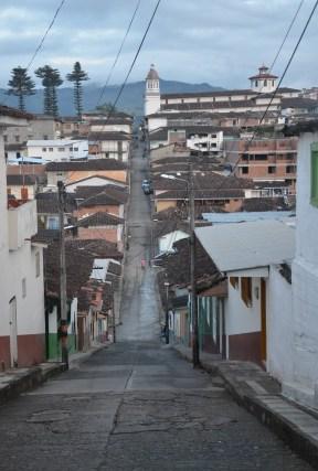 A street in Aguadas, Caldas, Colombia