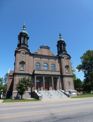 Our Lady of Lourdes Catholic Church in Little Falls, Minnesota