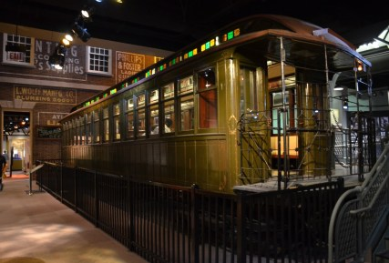 Trolley at the Chicago History Museum in Chicago, Illinois