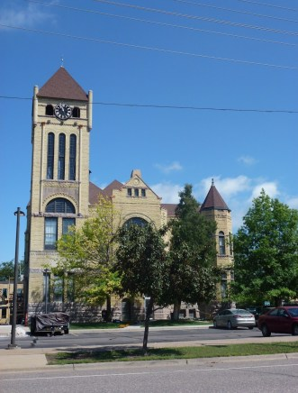 Morrison County Courthouse in Little Falls, Minnesota