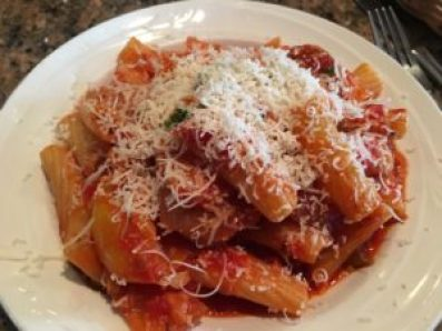 Bucatini with Italian sausage at Lucrezia in Chesterton, Indiana