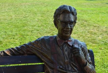 Orville Redenbacher statue in Valparaiso, Indiana