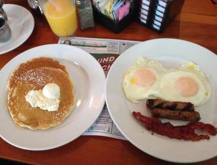 Breakfast at Round the Clock in Valparaiso, Indiana