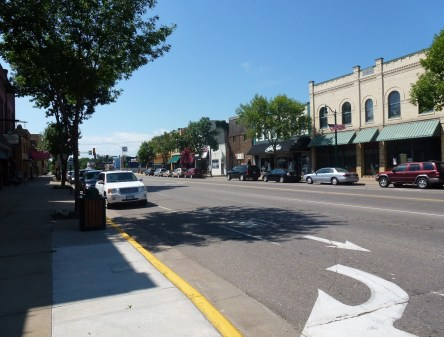 Downtown Little Falls, Minnesota