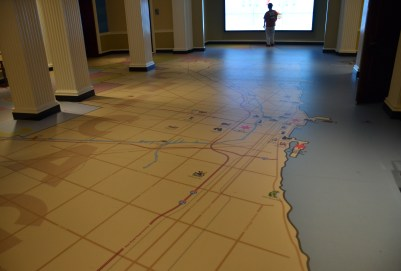 Floor Map at the Chicago History Museum