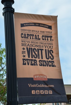 Golden Colorado Capital City banner for tourism